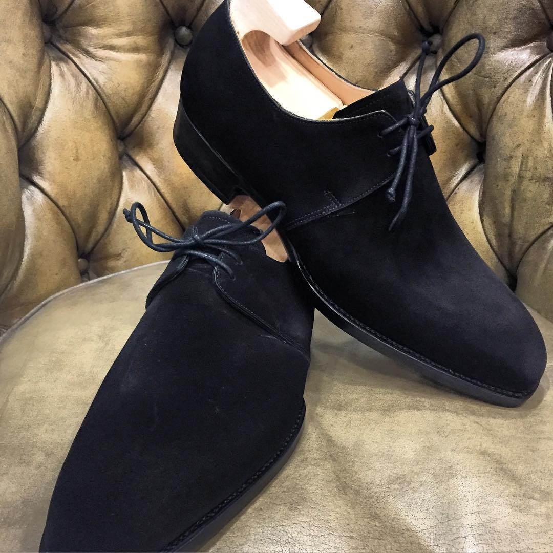 black reverse suede shoes