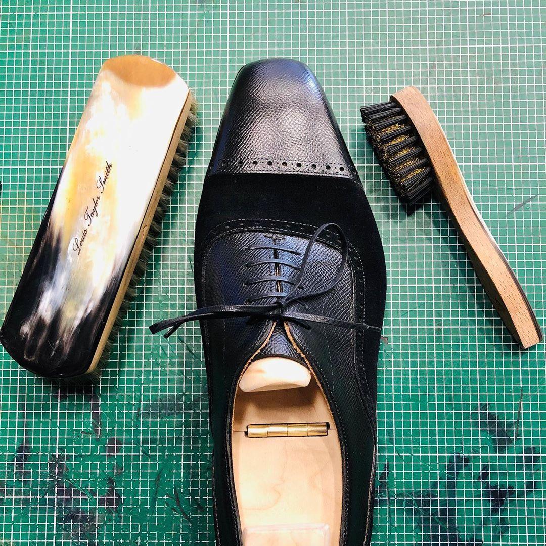 polished black shoe