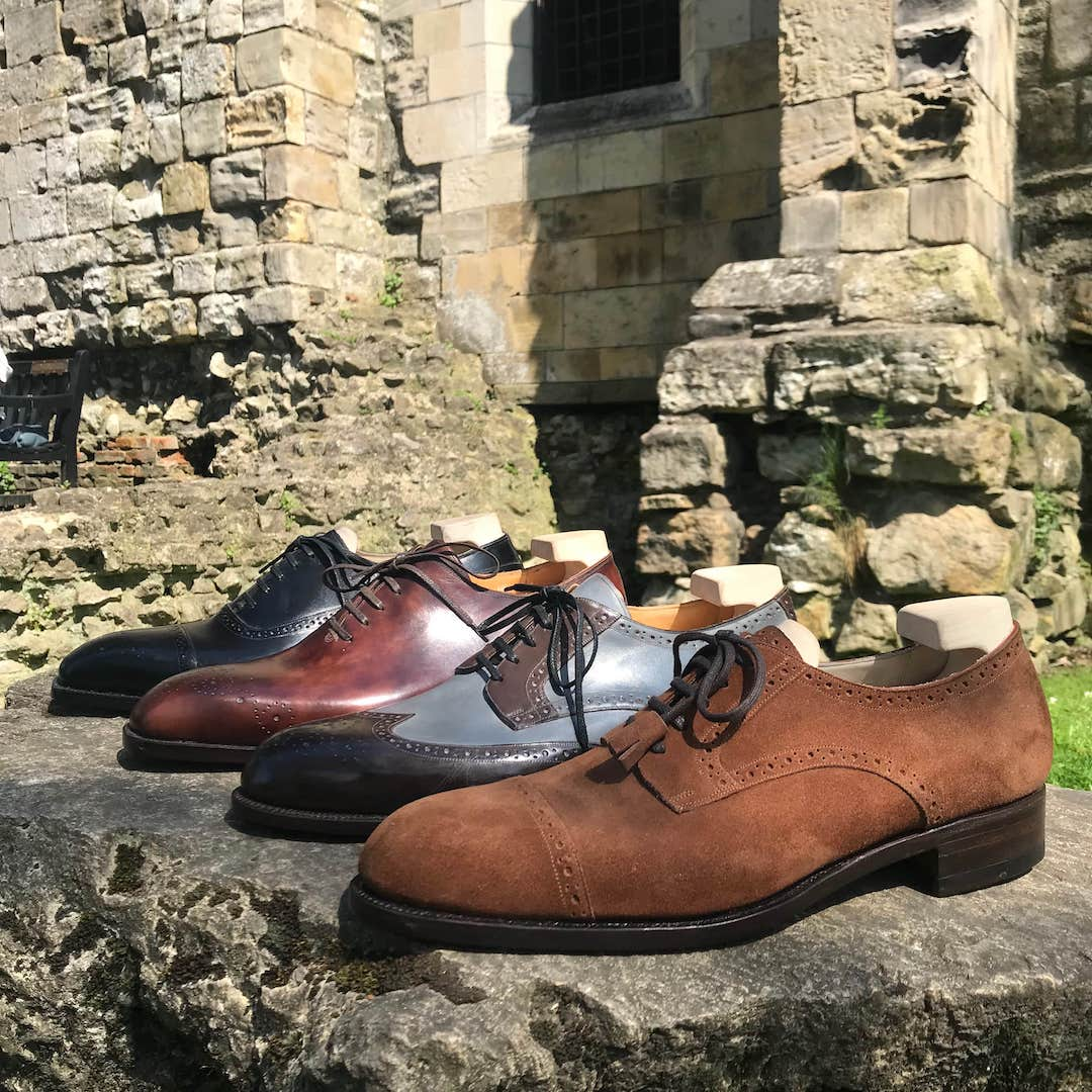collection of four bespoke shoes